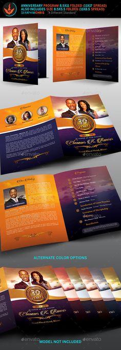 Royal Birthday Celebration Event Program Template  Program