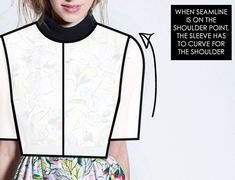 The Cutting Class: Shaping the shoulder curve - the dropped shoulder and the set in sleeve. -- When pattern making any garment that crosses over from the shoulder to the arm, you need to consider the placement of seam lines and have an understanding of how the seam line placement will affect the shaping of patterns.