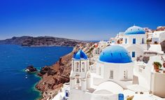 The beautiful Santorini Island, Greece.  I'm speechless and that doesn't happen often.