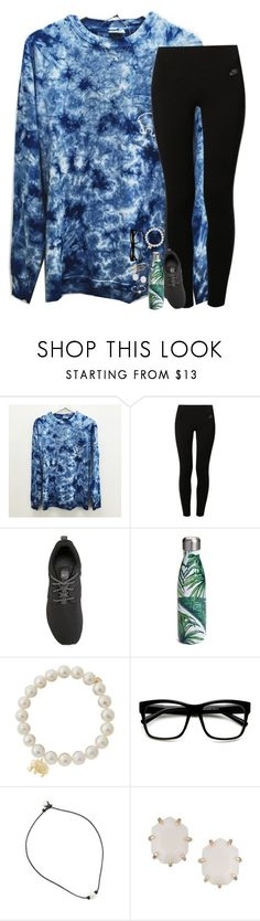"""fine"" by hailstails ❤ liked on Polyvore featuring NIKE, S'well, Sydney Evan, ZeroUV, Kendra Scott and Sarah Chloe"