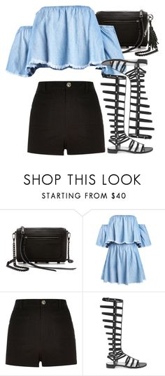 """""""Untitled #9342"""" by nikka-phillips ❤ liked on Polyvore featuring Rebecca Minkoff, River Island, Stuart Weitzman and Yves Saint Laurent"""