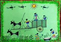 colourful warli paintings