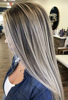 Best Haircuts for Women 2019 Medium Short Long Hair afmunet hair cut styles for long hair - Hair Cutting Style Hair Without Heat, Hair Color Highlights, Full Highlights, Blonde Hair With Brown Highlights, Low Lights And Highlights, Ashy Blonde, Beige Blonde, Silver Blonde, Blonde Wig