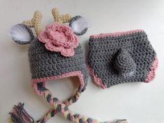 Newborn Crochet Deer Hat and Diaper Cover by 3JoyfulHeartsDesign