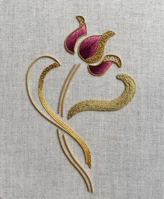 Hand Embroidery Patterns Flowers, Hand Embroidery Videos, Embroidery Motifs, Embroidery Monogram, Gold Embroidery, Hand Embroidery Designs, Embroidery Techniques, Embroidery Kits, Bead Patterns