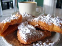 beignets and chicory coffee at Cafe du Monde - first night there. How could we not???