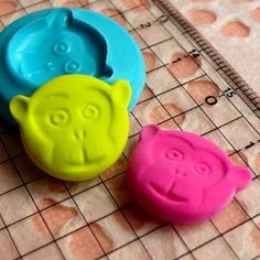 Monkey Face 18mm Silicone Flexible Push Mold