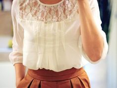 Lace Edwardian style blouse. So very, very Anne.