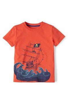 Mini Boden 'Summer Logo' Cotton Jersey T-Shirt (Toddler Boys, Little Boys & Big Boys) available at #Nordstrom