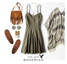 """""""The New Bohemian with American Eagle Outfitters: Contest Entry"""" by juhh ❤ liked on Polyvore featuring American Eagle Outfitters, Forever 21, vintage, fashionset, aeo, aeostyle and Juliajulian"""