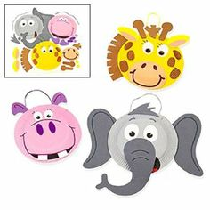 Paper Plate Zoo Animal Craft Kits (1 dz) by Fun Express. $16.95. Foam Pieces.. Instructions & Extra Pieces.. Individually Wrapped.. Kits Completed Measure 15 1/2 Inches.. 1 Dozen Paper Plate Zoo Animal Craft Kits.. Children love zoo animals, especially cute animals that they can make at home! These Paper Plate Zoo Animal Craft Kits are perfect for jungle or zoo themed parties.