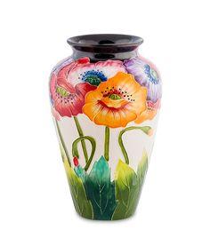 """Ваза для цветов из фарфора """"Маки"""" BS-30 / Коллекция Blue Sky / Вазы, кашпо, цветы / Каталог / R-Gifts – интернет магазин подарков и сувениров.  #decor #gift #giftidea #pavone #porcelaine #vase #vases #ваза #вазадляцветов #вазы #подарок #фарфор"""
