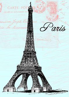 **FREE ViNTaGE DiGiTaL STaMPS**: Free Vintage Digital Stamp - Eiffel Tower