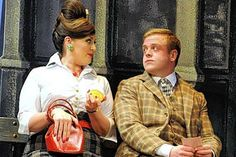 One Man, Two Guvnors production shot: Jodie Prenger and Owain Arthur Theatre Royal Haymarket, Very Funny, Couple Photos, London, So Funny, Couple Shots, Really Funny, Couple Photography, London England