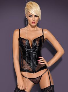 #Sexy #Wetlook #Corsage in schwarz
