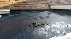Old rubber roof system that someone didn't install correctly. So we'll help solve the problem. #DCandR #DependabilityFirst