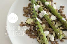 Gegrilde asperge met linzen