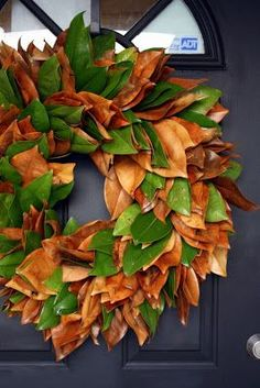 I'm showing you how to make your very own magnolia leaf wreath. You know the kind. The big, beautiful, full, lush, kind made from the big le...