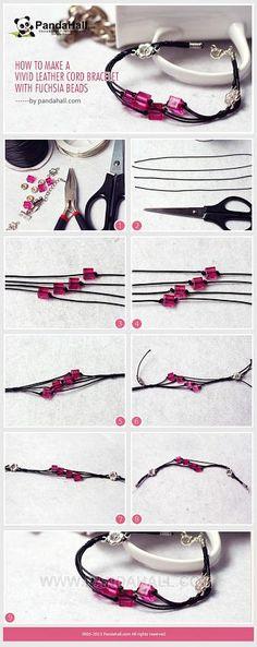 Cómo hacer una pulsera de la cuerda del cuero Vivid con ... | Jewelry Making T ...