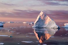 Beautiful iceberg at sunset off the Antarctic Peninsula. The colours were amazing.