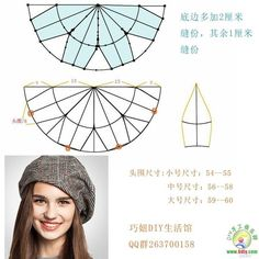 how to make a newsboy cap - Her Crochet Hat Patterns To Sew, Sewing Patterns, Hat Tutorial, Diy Hat, Fascinator Hats, Cloche Hat, Pattern Drafting, Hat Making, Sewing Clothes