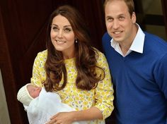 5/2/2015: Lindo Wing of St. Mary's Hospital, with Princess Charlotte & Prince William (Westminster, London)