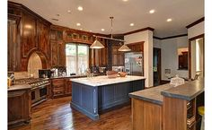 6735 Aberdeen Ave: love the eclectic mix of wood and black subway tile