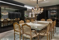 dining room and integrated kitchen! - Saute Decor - Decoration and Architecture Blog