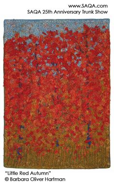 Art quilt by Barbara Oliver Hartman #artquilts #SAQA