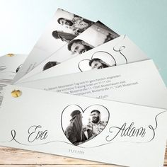 Hochzeitseinladungen - online selbst gestalten Wedding 2017, Wedding Album, Wedding Invitation Cards, Wedding Cards, Just Married, Save The Date, Marie, Wedding Decorations, Wedding Ideas