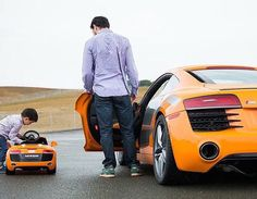 Audi R8 father and son