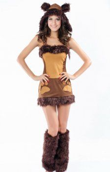 Christmas clothing ( hooded furry dog costumes )