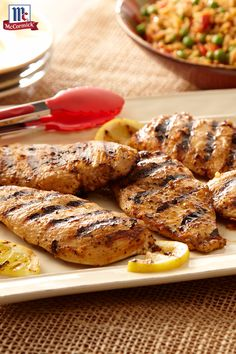 Chicken Taco Seasoning Mix, lemon juice and oil combine to make the quick and easy chicken marinade. Best part about this grilled chicken recipe? It's on the table in just 20 minutes.