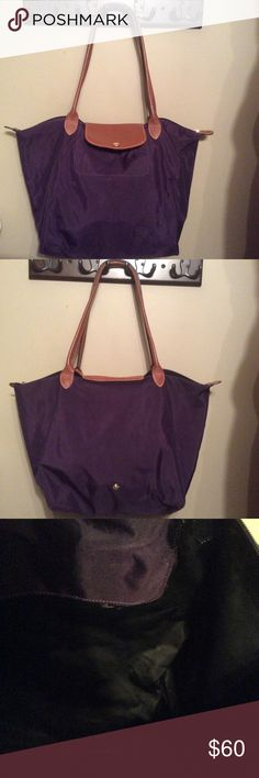 Longchamp tote Preloved med size tote very small pin holes on the corners clean good condition Longchamp Bags Totes