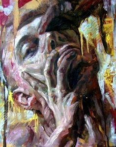Oil paintings by Polish artist Jakub Kujawa, via Behance - Conflict