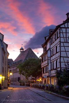 Colmar at sunset, Alsace Haut-Rhin France. © Brian Jannsen Photography