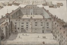 Bridewell Prison and Hospital (Image is The Prospect of Bridewell from John Strype's, An Accurate Edition of Stow's Survey of London (1720). © Tim Hitchcock.)