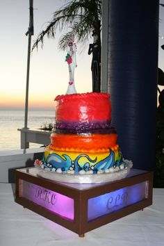 Lighted Wedding Cake Stand