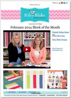 Riley Blake Designs Blog: February's Block of the Month #rileyblakedesigns #blockofthemonth #birthdayquilt #videotutorial