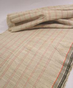 VINTAGE Fabric HEMP HMONG Hill Tribe Ethnic Textile Stripe Table Runner