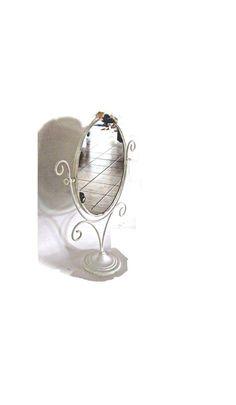 Vanity mirror. Make up mirror. Shabby chic by Underlyingsimplicity: