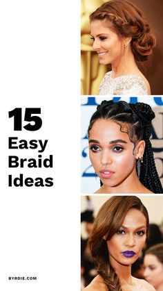 15 Cool Braids That Are Actually Easy (We Swear) Braided Hairstyles, Hairdos, Updos, 80s Hair Bands, Cool Braids, Braided Ponytail, Gorgeous Hair, Hair Styles, Models