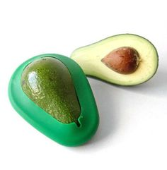 """Avocado """"Huggers"""" ~ Silicone """"Huggers"""" that keep cut avocados fresh and green in your fridge (Set of 2 includes one large and one small)   
