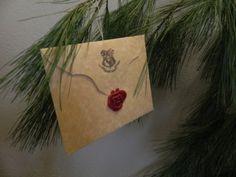 Hogwarts Acceptance Letter CUSTOM Made Ornament.
