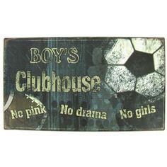 Boy's Clubhouse Tin Sign | Shop Hobby Lobby