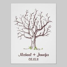 Wedding Fingerprint Tree Guestbook template