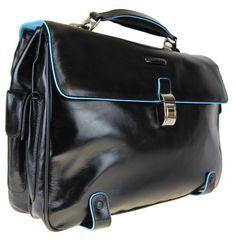 Briefcase Piquadro Blue square CA1066B2 NERO