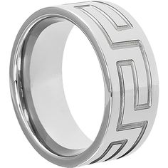 Beautiful Handcrafted Greek Key Tungsten Wedding Band for men and women.  Exclusive Forever Metals Design - Beautiful!    Width:  10mm  Brand:  Forever Metals  Manufactured in the United States  Comfort Fit  Sizes 5-15 Available  Inner Diameter Engraving Available    High quality tungsten carbide with a nickel binder    **Unisex sizing:  Order your original size - Our sizing runs true to size**    Lifetime Guaranteed:  Forever Metals stands behind our quality.  Each purchase comes with a…