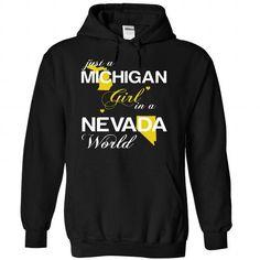 Just A Michigan Girl In A Nevada World T Shirts, Hoodies. Get it now ==► https://www.sunfrog.com/Valentines/-28MIJustVang002-29-Just-A-Michigan-Girl-In-A-Nevada-World-Black-Hoodie.html?57074 $39