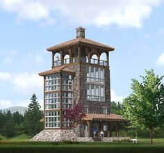 Lookout tower House Plans - √ 16 Lookout tower House Plans , Fire Inspired 14 Converted & New Lookout tower Homes Lookout Tower, Montana Homes, Tower Building, Tower House, Stone Houses, Architecture Details, My House, House Plans, Construction